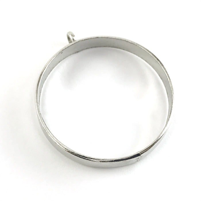silver colour open bezel with a loop
