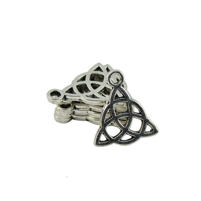 Silver Celtic Knot Pendant Charms, 17mm - 10 pack