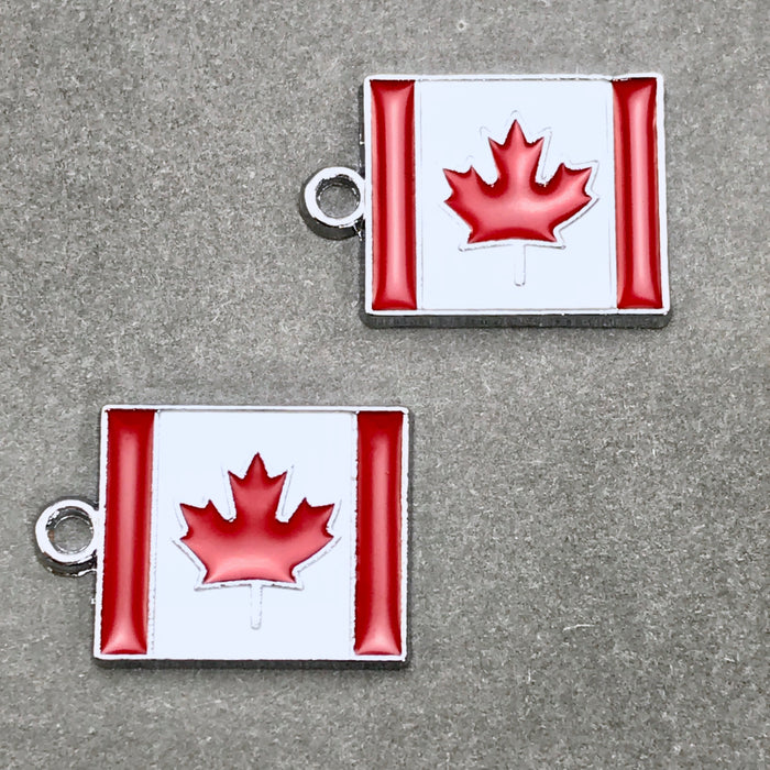 canadian flag jewelry charms
