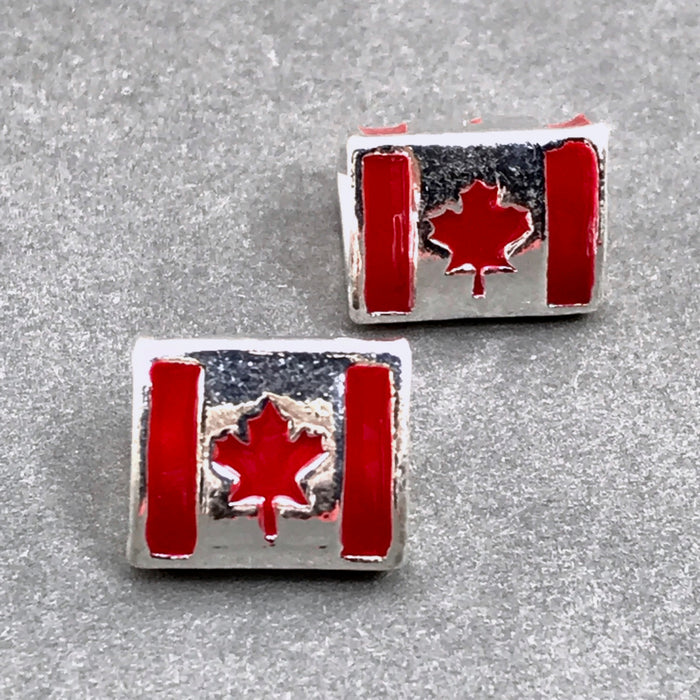 Canadian flag jewelry beads