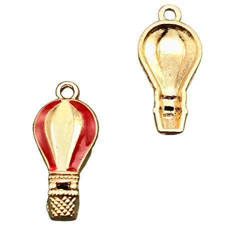 Hot Air Balloon Pendant Charms, 23mm - 7 pack Flawed Stock Clearout!