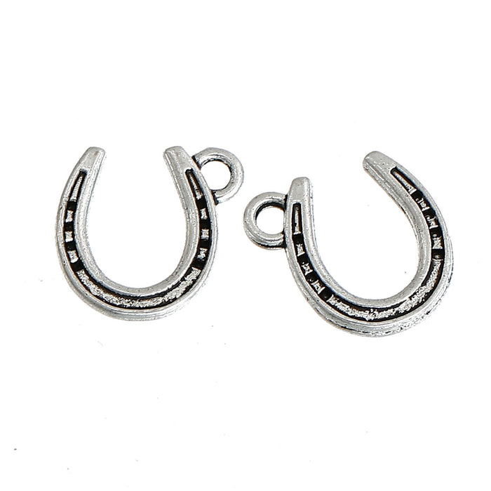 Horseshoe Pendant Charms For Jewelry Making, 13mm - 10 pack
