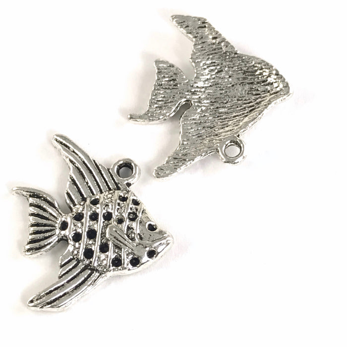 Fish Jewelry Pendant Charms, 21mm - 8 Pack