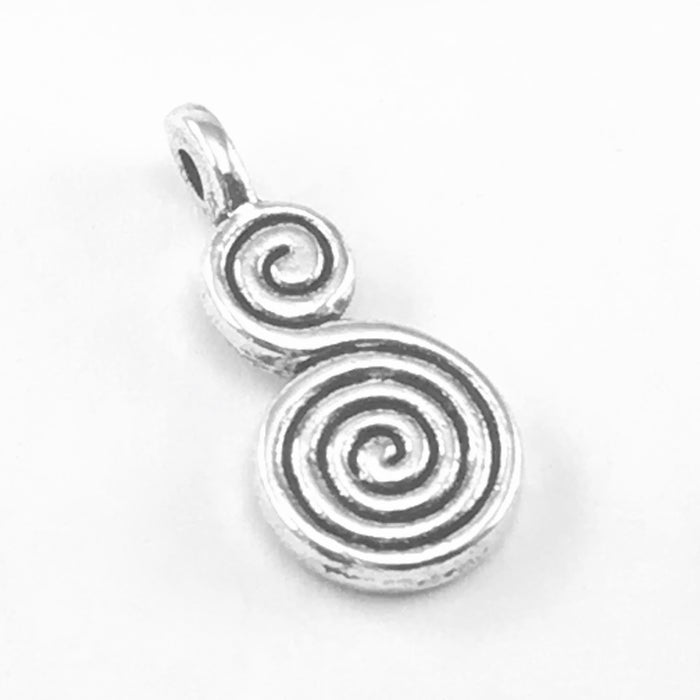 Whirl Design Jewelry Pendant Charms, 17mm - 10 pack