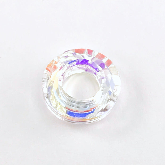 Crystal Faceted AB Ring Shaped Pendant Charms, 14mm - 12 pack