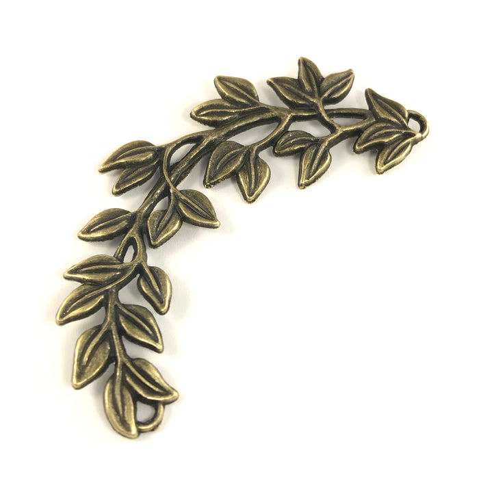 Extra Large Leafy Branch Connector Pendant Antique Bronze Colour, 87mm