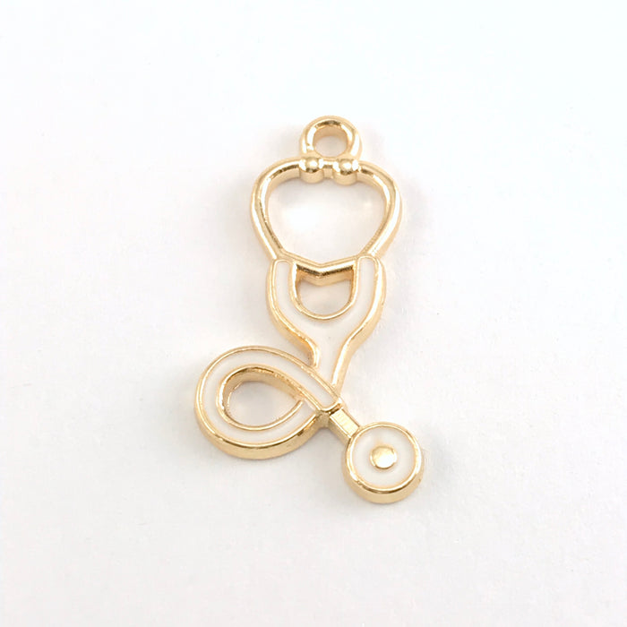 jewelry charms that look like stethoscopes