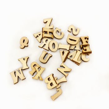 small wooden pieces shaped like letters