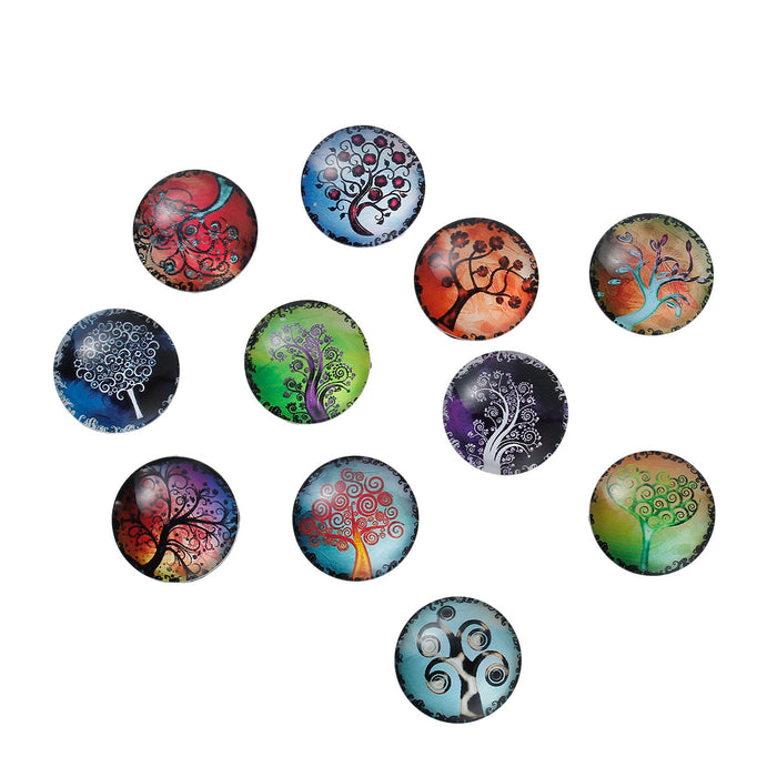 multi coloured glass cabochons
