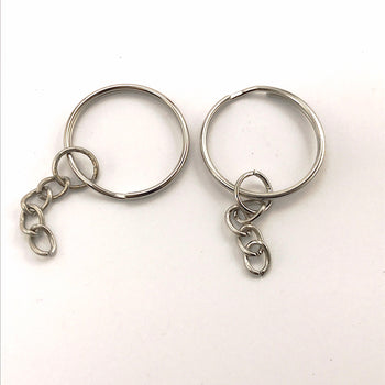 silver colour key rings