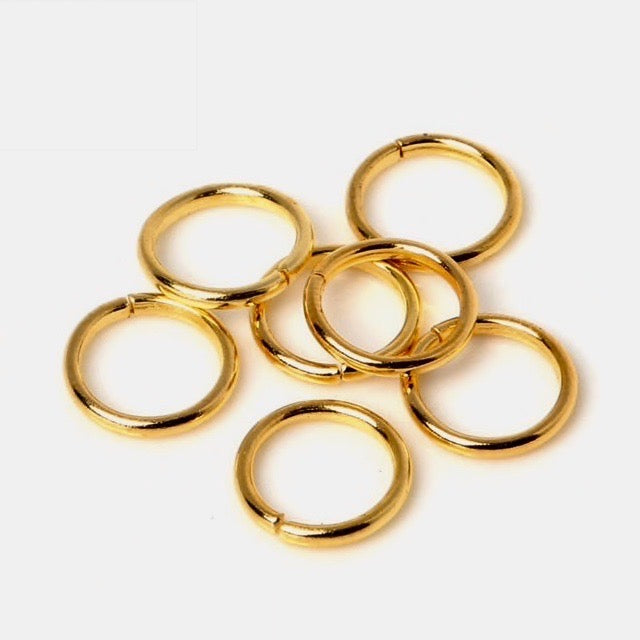 Gold Tone Open Jump Rings 12mm x 1.5 mm - 50 pack