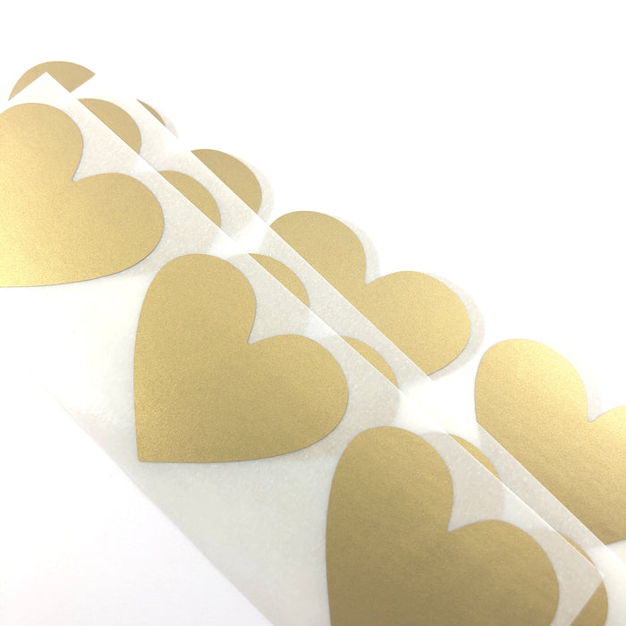 gold heart shaped stickers