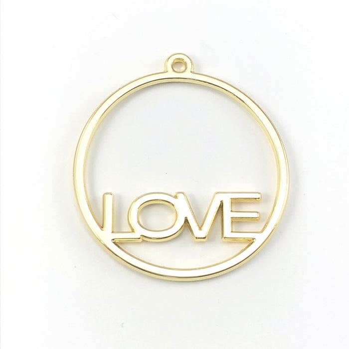 round open back bezels that have the word love in them