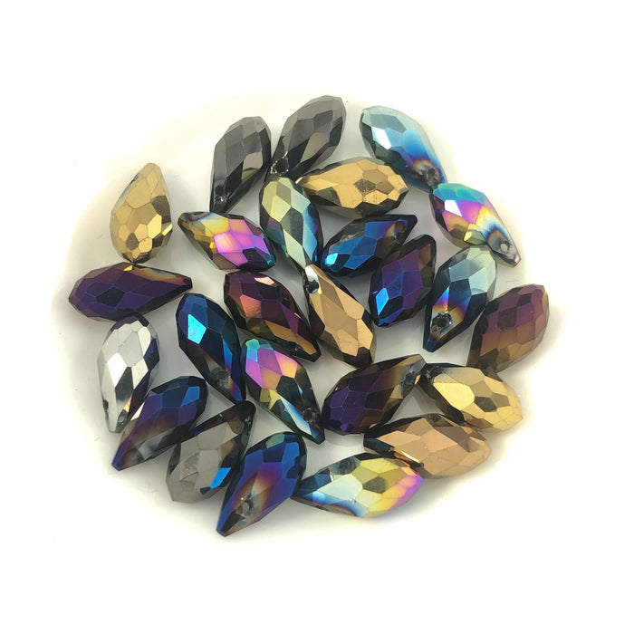 teardrop shaped beads in mixed colours
