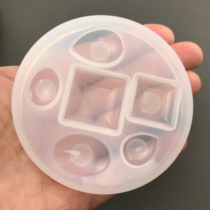 Clear Silicone Mold for Resin Jewelry Making, 82mm