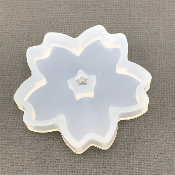 Flower Shape Clear Silicone Mold for Resin Jewelry Making, 52mm