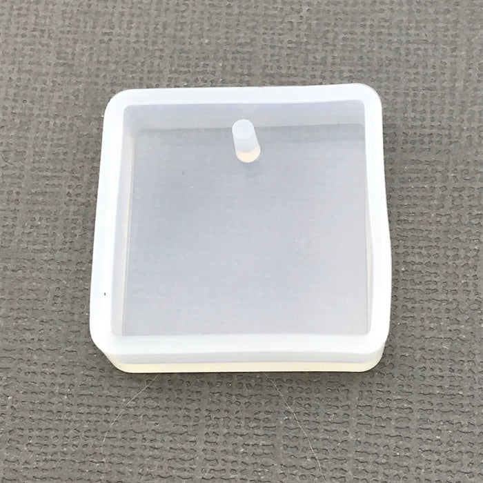 Square Shape Clear Silicone Mold for Resin Jewelry Making, 28mm - 2 pack