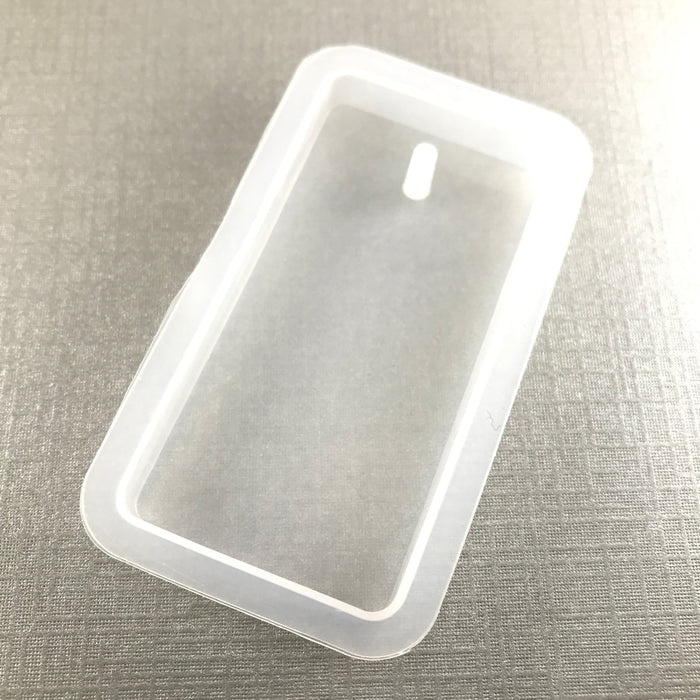clear silicone mold that is rectangular shaped
