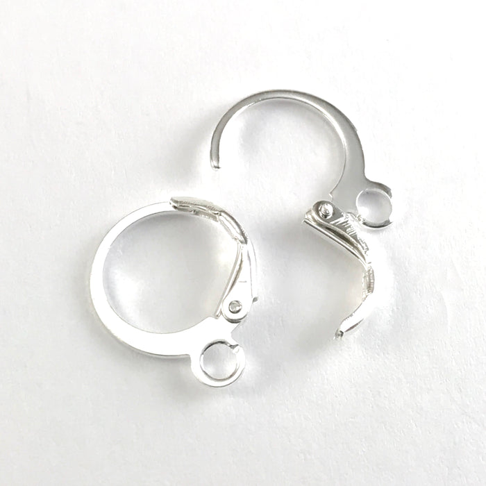 silver colour round earring hoops