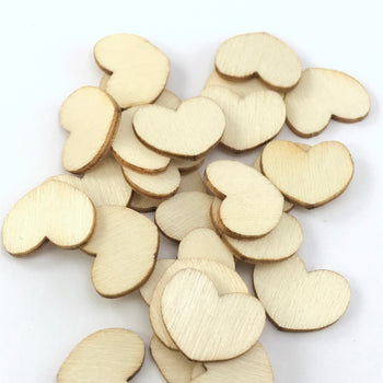 blank wooden heart shaped pieces