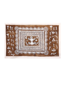 PAINTING WARLI CLOTHOFF-WHITE
