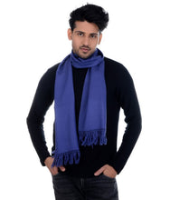 Load image into Gallery viewer, HANDWOVEN MUFFLER BLUE – KASHMIRA WOOL : HP