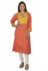 LIGHT ORGANGE KURTI EXTRA LONG (MEDIUM)