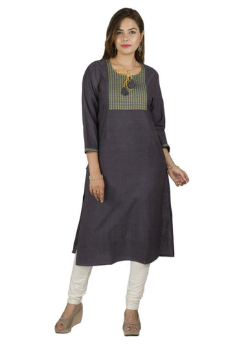 LIGHT CLEAR NAVY BLUE KURTI EXTRA LONG (MEDIUM)