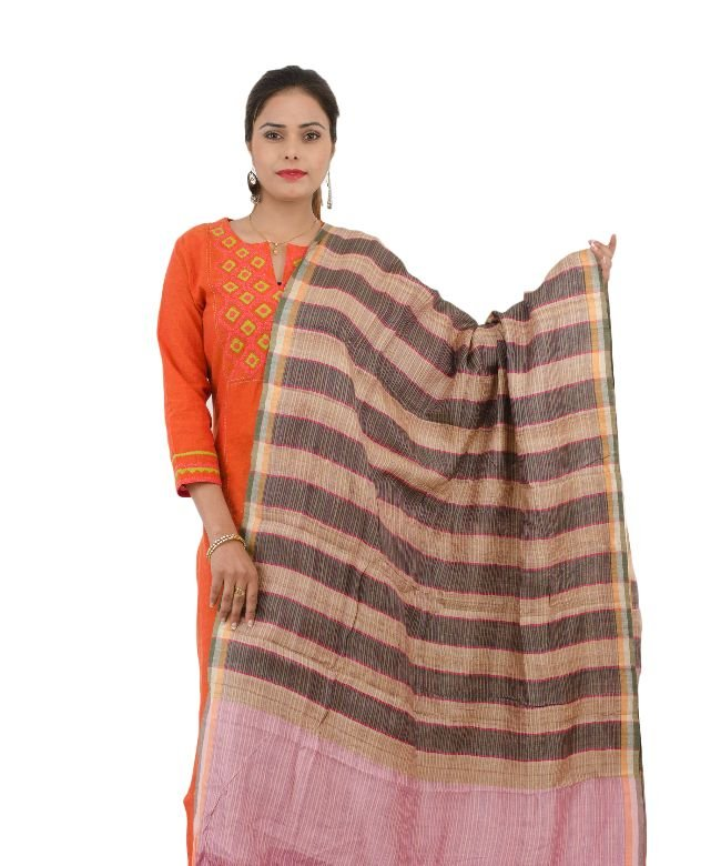 DUPATTA TASSAR MULTI COLOR