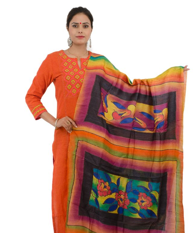 DUPATTA TASSAR COLOR