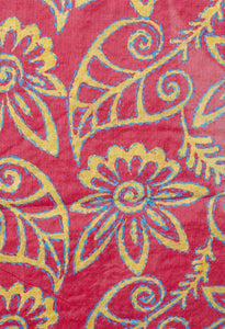 BLOCK PRINTED TASSAR SILK STAWL FOR WOMEN