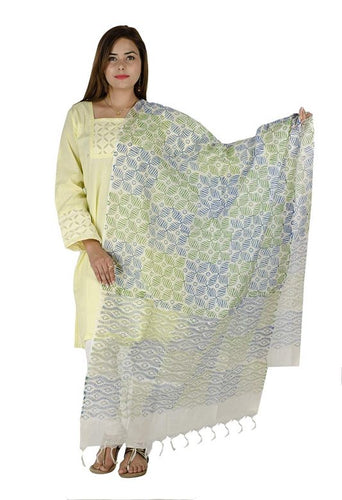 CHANDERI SILK PRINTED STAWL