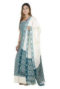 MULTI-COLORED PONCHAMPALLY SUIT DRESS MATERIAL FOR WOMEN