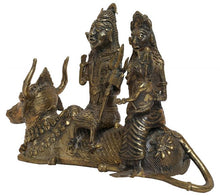 Load image into Gallery viewer, BRASS SHIV PARWATI IDOL