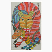 Load image into Gallery viewer, GOND CANVAS PAINTING