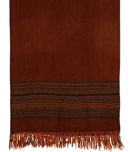 HANDWOVEN BROWN SHAWL KINNAURI : HP