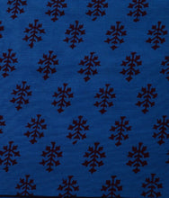 Load image into Gallery viewer, BLUE COTTON SAREE