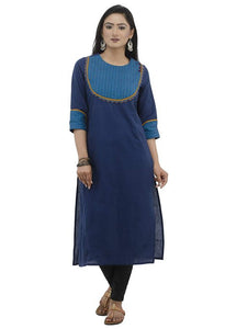 WOMEN'S COTTON KURTA/SHORT WITH PATCH WORK