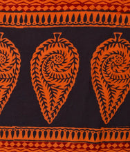 Load image into Gallery viewer, HAND BLOCK BAGH PRINT COTTON ORANGE CASUAL SAREE