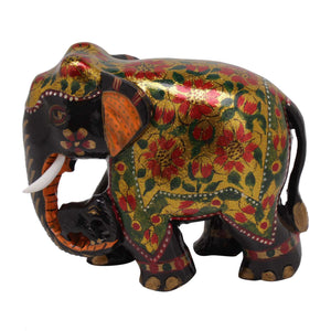 MULTICOLOR WOODEN ELEPHANT