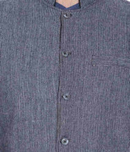Load image into Gallery viewer, REVERSABLE NEHRU JACKET / WAIST COAT DOUBLE MEN SHEEP WOOL BLUE