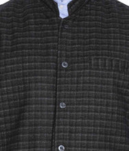 Load image into Gallery viewer, REVERSABLE NEHRU JACKET / WAIST COAT DOUBLE MEN SHEEP WOOL BLACK & PINK CHECK
