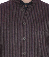 Load image into Gallery viewer, NEHRU JACKET / WAIST COAT PASTING MEN SHEEP WOOL BROWN