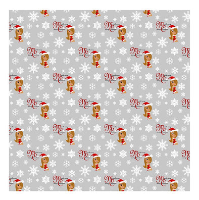 Mariah Carey Merry Christmas Silver Wrapping Paper