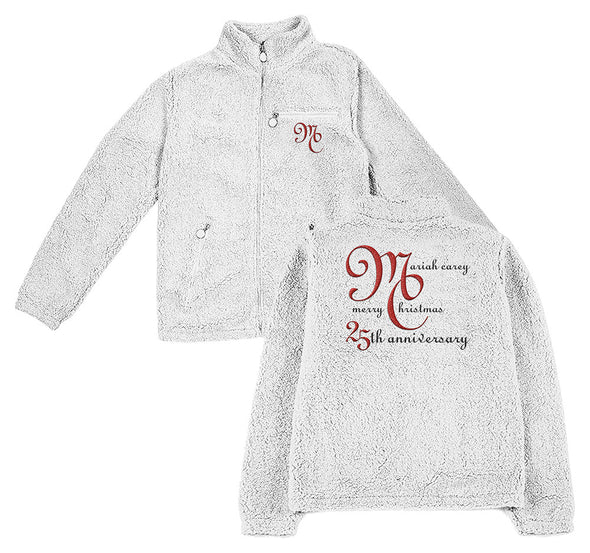 Mariah Carey MC Logo Zip Sherpa Sweatshirt