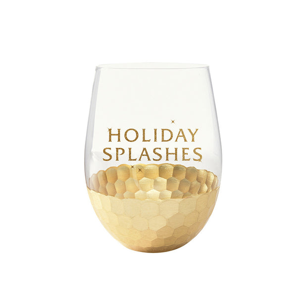 Holiday Splashes Wine Glass