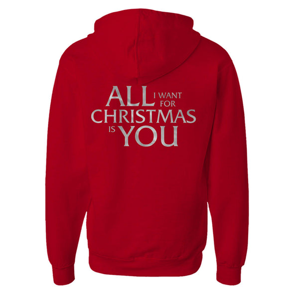 All I Want For Christmas Is You Foil Hoodie