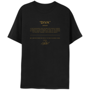 Diva Black Short Sleeve Tee