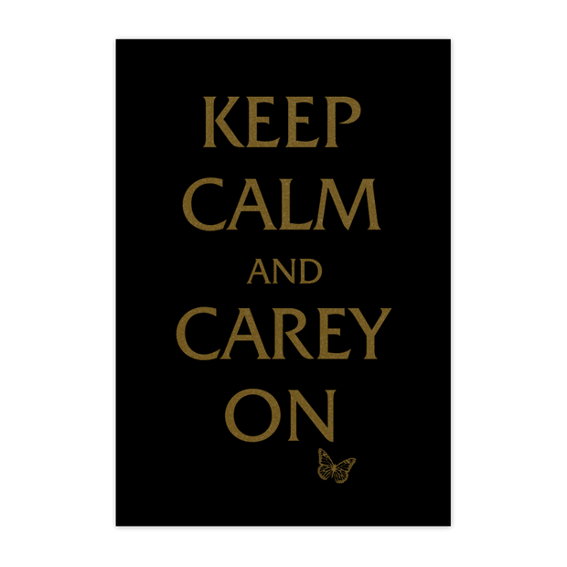 """Keep Calm and Carey"" On Poster-Mariah Carey"