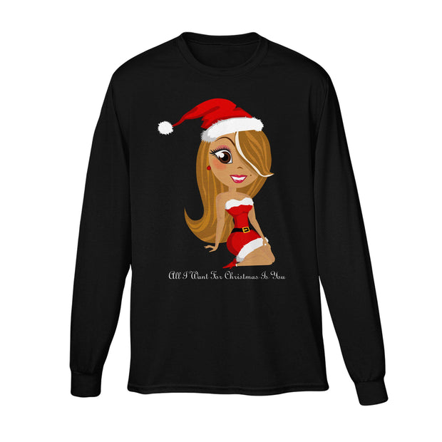 All I Want For Christmas Is You Long Sleeve Tee-Mariah Carey